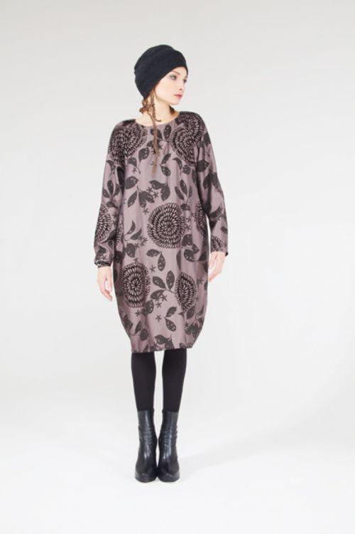 Платье Кокон-реглан флок