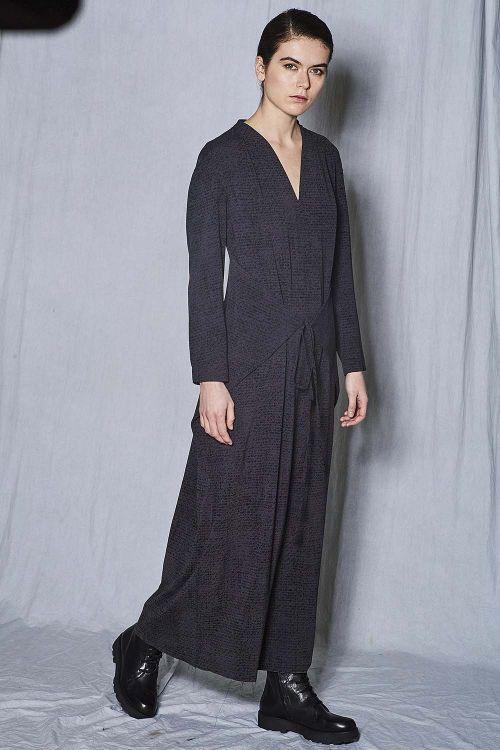 Платье прямое с завязками Крапинка