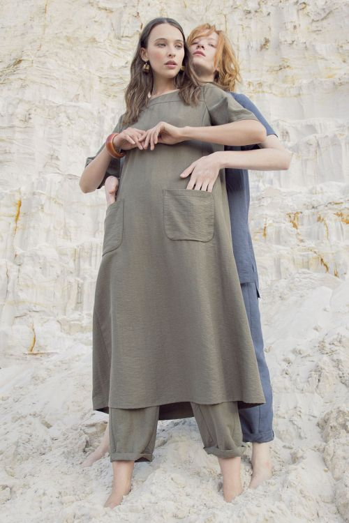 Платье Сафари, тенсель