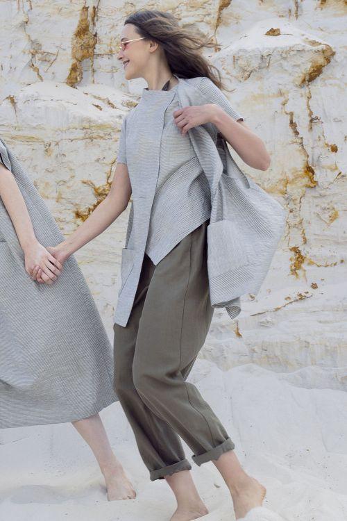 Блуза Диагональ, тонкая полоска