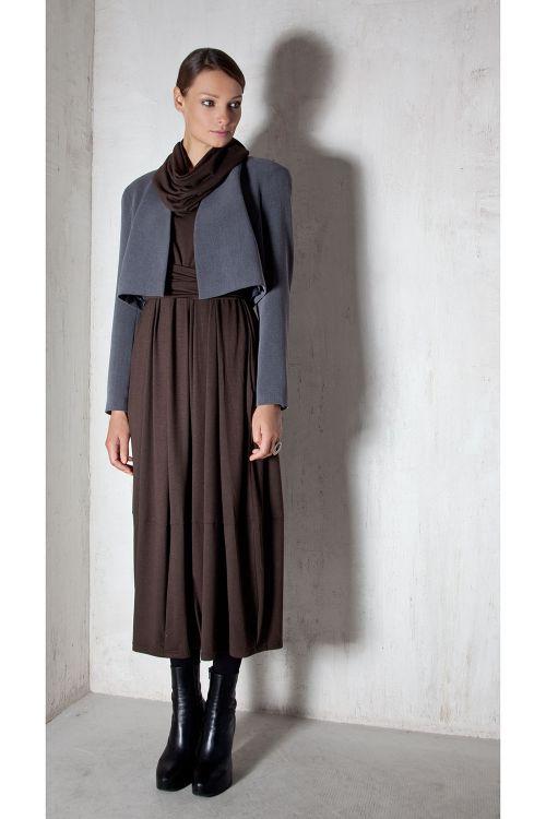 Платье Овал-хомут, зима