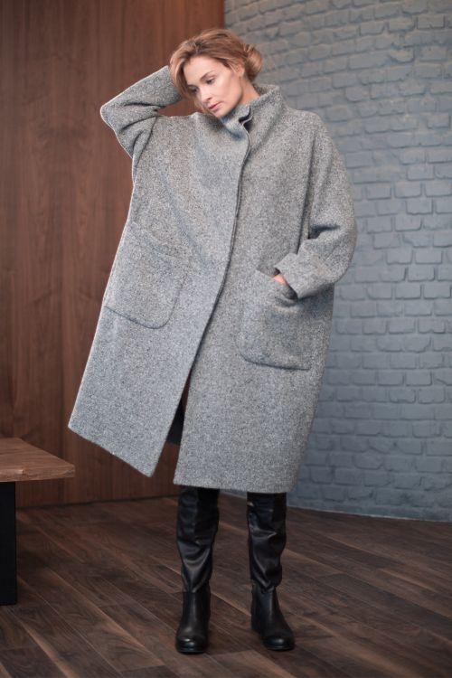 Пальто Япония твид меланж