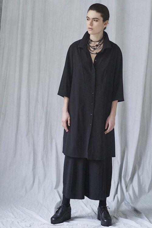 Блуза длинная с манишкой