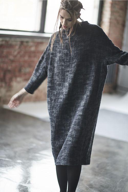 Платье Овал среднее, жатый жаккард