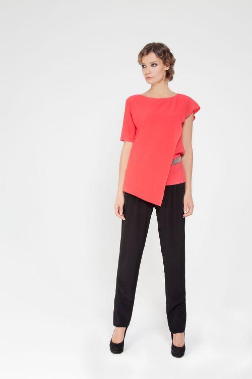 Блуза с пелериной