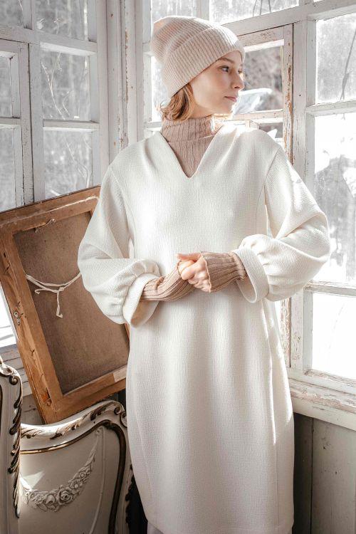 Платье Силуэт вафельный концепт