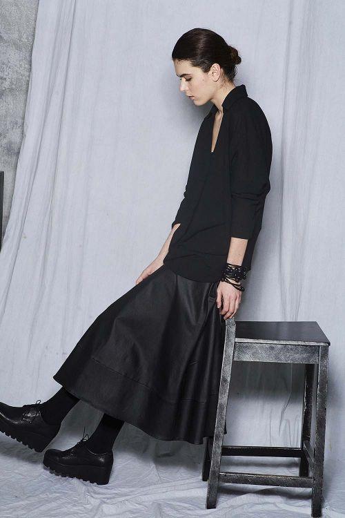 Блуза с запахом тонкая шерсть