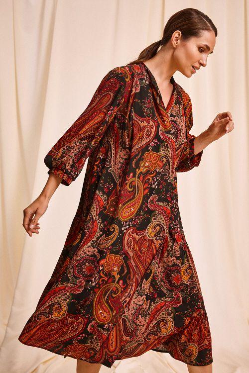 Платье Пейсли, ярусы