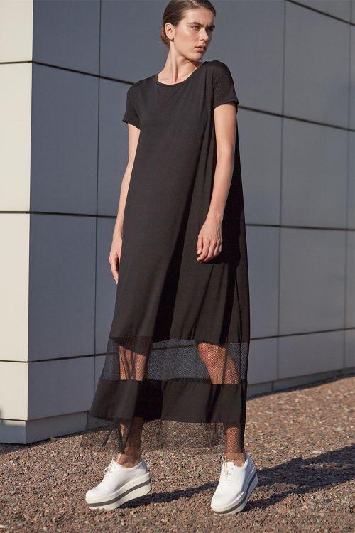 Платье ШИРОКОЕ с сеткой