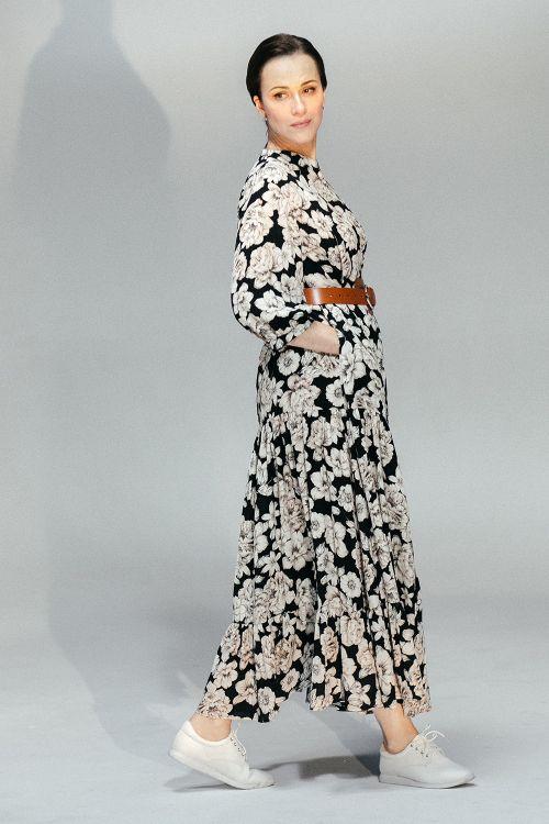 Платье Флора, ярусы