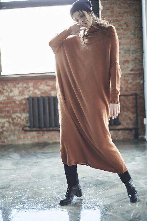 Платье длинное вязаное, база