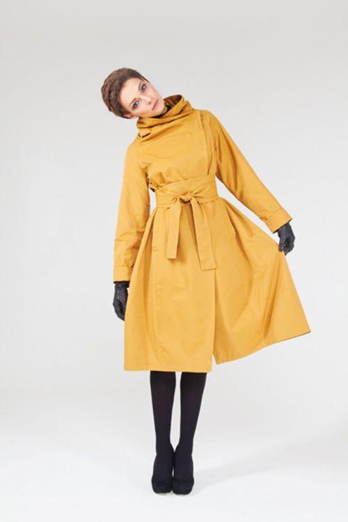 Плащ-пальто Трапеция короткое с поясом кушак на подкладке