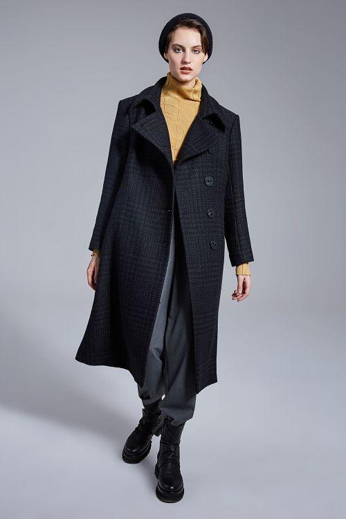 Пальто Прямое, клетка