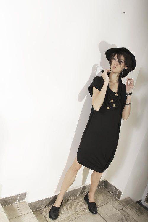 Базовое трикотажное платье-перевертыш