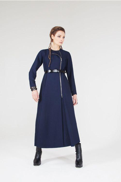 Платье Клеш с молнией, длинное