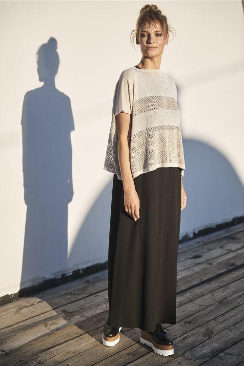 Блуза с люрексом, бежевый камень