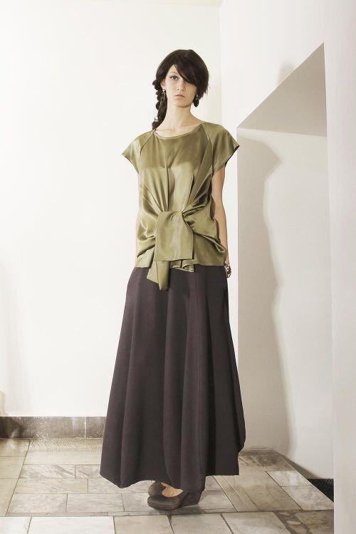 Длинная юбка клиньями округлой формы