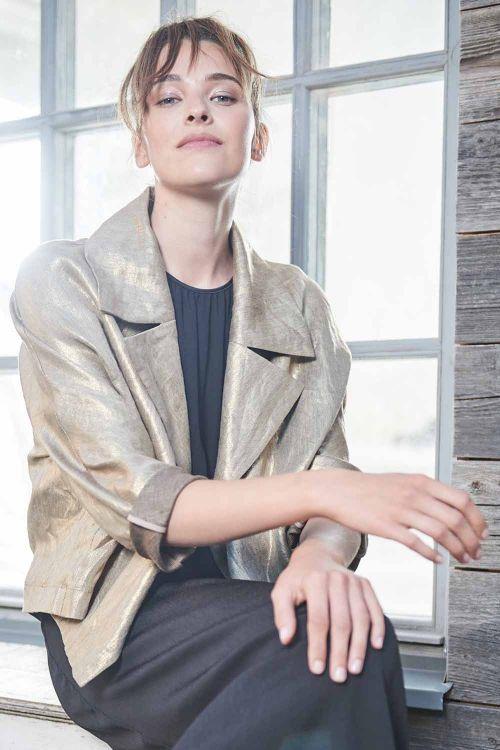 Жакет Овал с лацканами, золотой