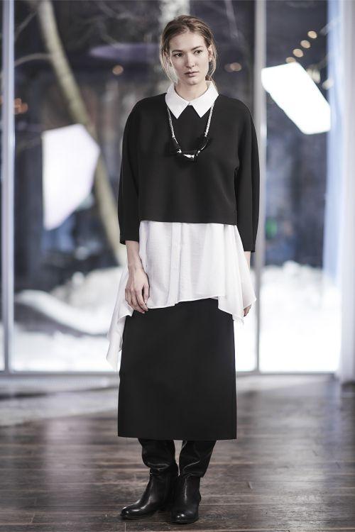 Блуза Овал, короткая