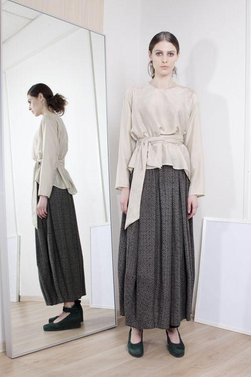 Блуза с кушаком