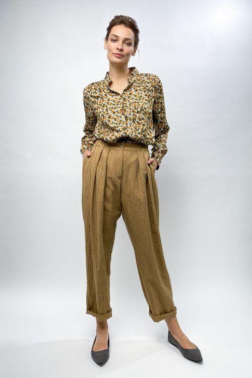 Блуза с кокеткой Цветущий луг