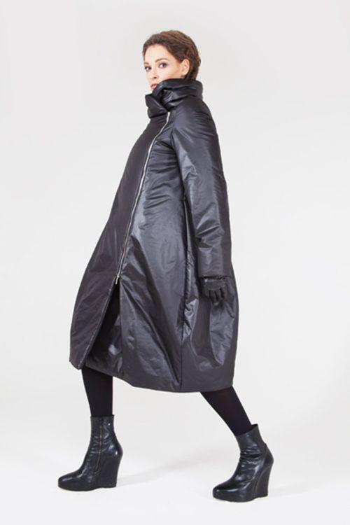 Пальто Трапеция-объем на синтепоне