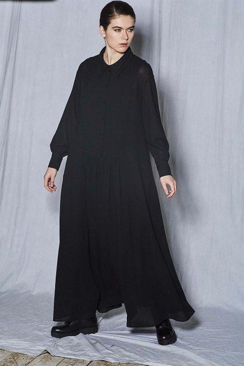 Платье клёш Двойной воротник на подкладке