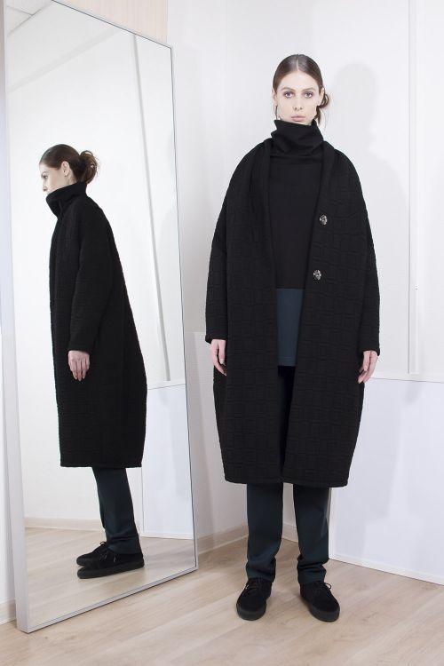 Пальто Шаль стеганое, длинное