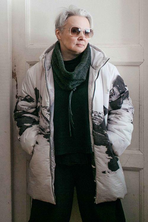 Куртка Средняя с капюшоном Горы