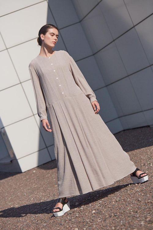 Платье СО СКЛАДКАМИ на пуговицах вискоза