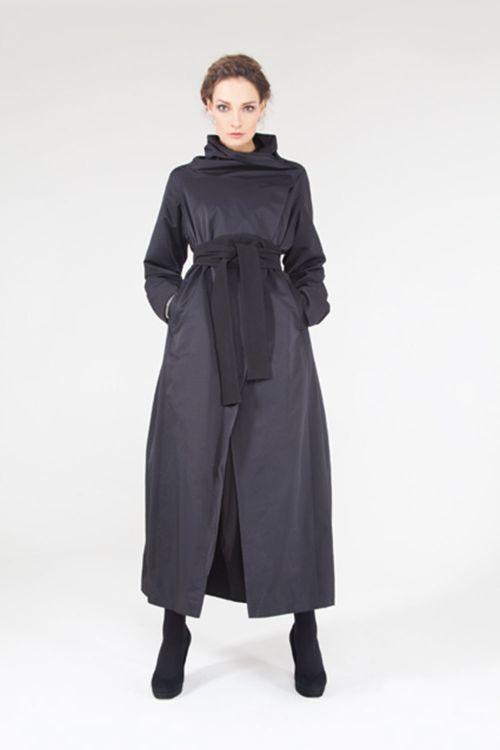 Плащ-пальто Трапеция с поясом кушак на подкладке