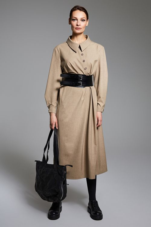 Платье Сити с асимметричной планкой