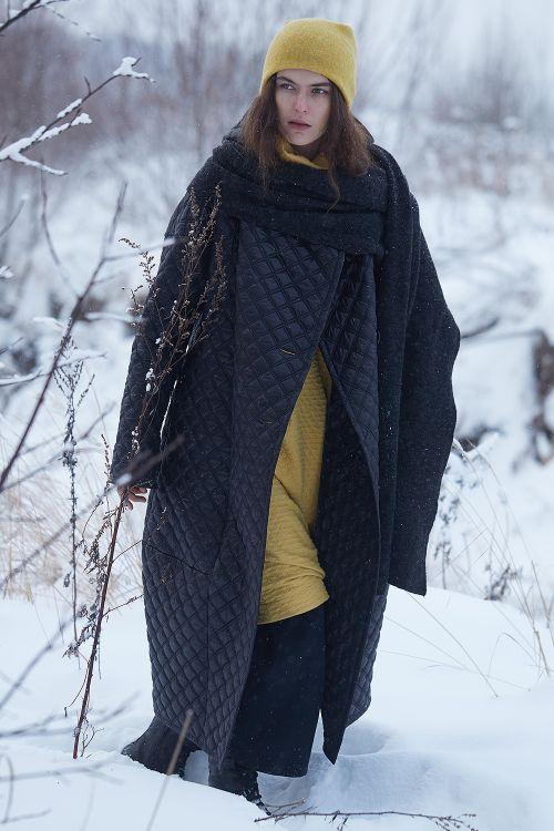 Пальто объёмное кимоно Ромбы