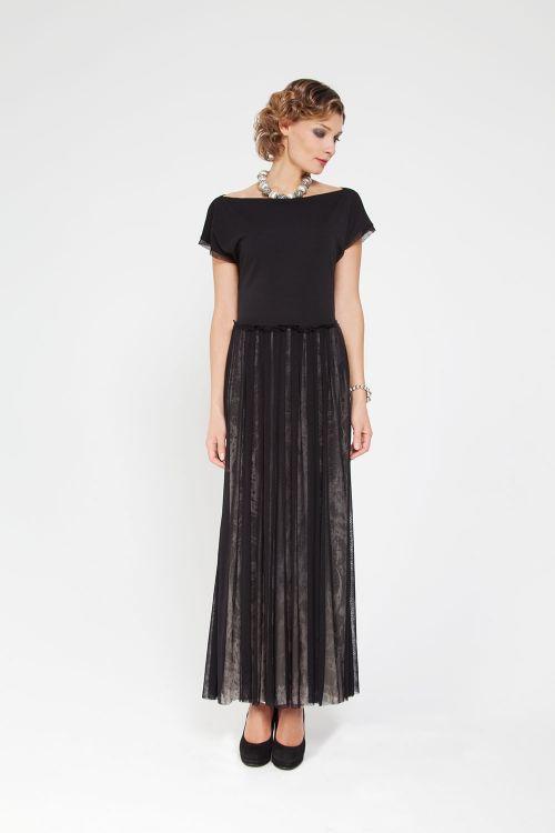 Платье с двойной сеткой