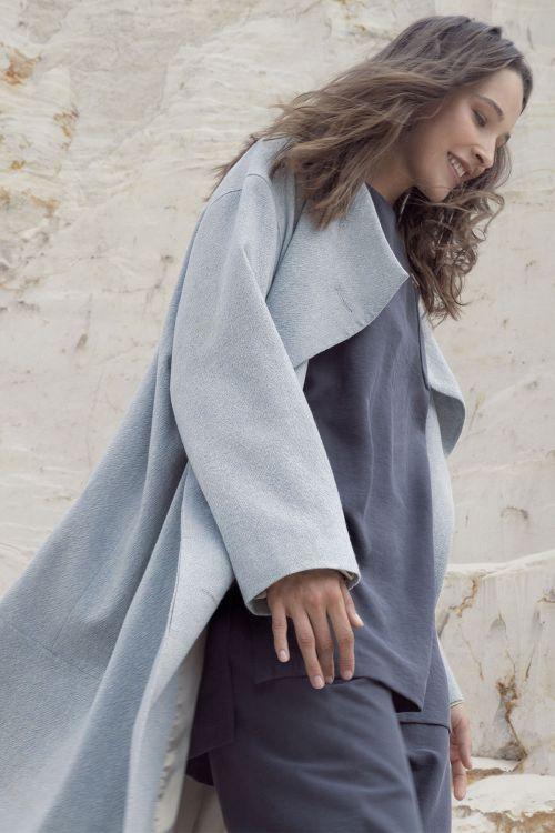 Пальто лёгкое со стойкой, шерсть