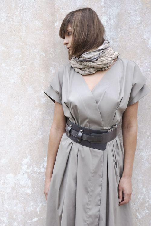 Платье-кимоно из хлопка
